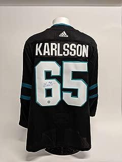 Erik Karlsson Autographed Jersey - San Jose Sharks Alternate Adidas - Autographed NHL Jerseys