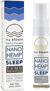Nu Bloom BotanicalsSleep Aid Hemp Oil - Sleep Formula for Insomnia and Anxiety Relief - Hemp Oil Extract - Organic Hemp O...