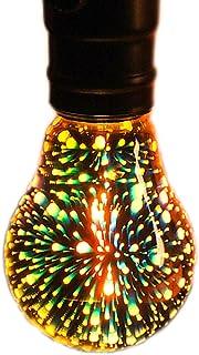 Bombilla LED bombilla de fuegos artificiales 3D Vintage Colorido Luz de noche Fuegos artificiales Filamento Bulbo 3D lámpara colorida bombilla Vintage colorido decorativo bombilla