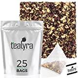 Tealyra - Flat Belly Detox - 25 Bags - Fennel - Peppermint - Hibiscus - Wellness Herbal Loose Leaf...