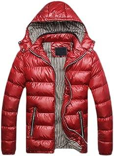 Men Winter Removable Hood Down Jacket Full Zipper Puffer Short Jacket
