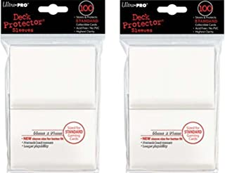 Ultra Pro 200 White Deck Protector Sleeves 2 Pack - Standard Magic The Gathering Size