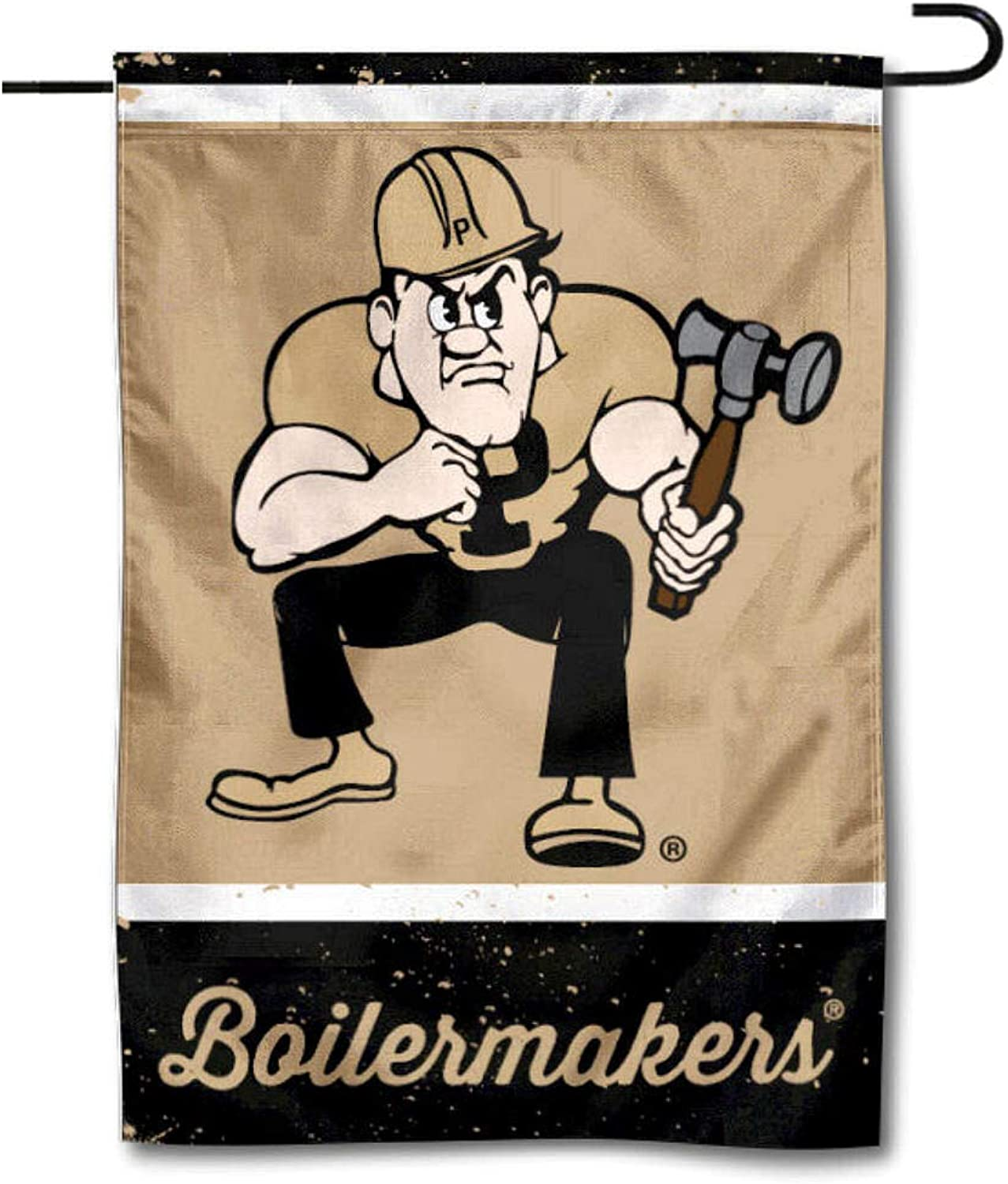 WinCraft Purdue Throwback Vintage Retro Garden Flag