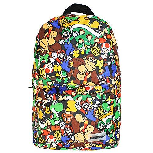 Difuzed - BP060446NTN, Nintendo Mochila con estampado de personajes Super Mario Unisex adulto,...