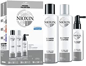 Nioxin System 1 Natural Hair Light Thinning Kit for Unisex - 3 Pc