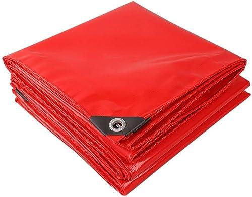 ATR Bache Rouge épaisseur 0.45mm 520g   m \u0026 sup2; épaississement Multifonction (Couleur  Rouge, Taille  5  6m)