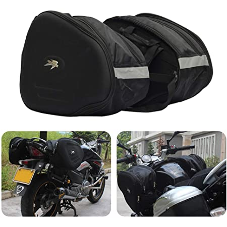 Tuincyn Motorrad Satteltasche Werkzeugtasche Schwere Wasserdichte Reisetasche 2 Gurt Motorrad Fahrradtasche Für Sportster Dyna Softail Honda Suzuki Yamaha Auto