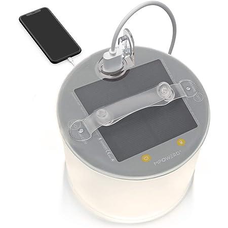Viajes l/ámpara Impermeable Color Blanco tama/ño Free Size Senderismo iluminaci/ón de Tienda de campa/ña al Aire Libre LYXMY Linterna Solar Inflable luz de Emergencia port/átil para Camping