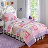 Pem America, Ballet Lesson Collection, Twin 2-Piece Quilt Set, Pink