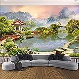 rylryl 3D Mural Wallpaper Modern Garden Landscape Photo Wall Painting Living Room Dormitorio Theme Hotel Backdrop Wall-400x280cm