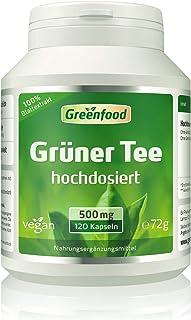 Grüner Tee Extrakt 90% Polyphenole, 500 mg, hochdosiert, 120 Vegi-Kapseln – OHNE künstliche Zusätze. Ohne Gentechnik. Vegan.
