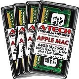 A-Tech 64GB (4x16GB) RAM for Apple iMac Late 2015 27 inch Retina 5K | DDR3L 1866MHz / 1867MHz PC3L-14900 1.35V 204-Pin SODIMM Memory Upgrade Kit