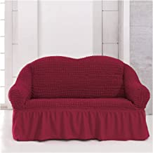 Fabienne Two Seater Sofa Cover, Claret Red