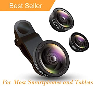 Buy Camera Lens for Smartphone Xcilos 3 in 1 Cell Phone Camera Lens Kit -Fish Eye Lens, 2 in 1 Macro Lens & Wide Angle Lens Compatible for Android/iOS Devices