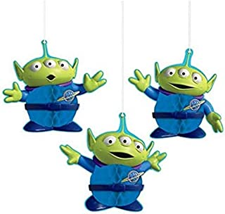 """Amscan""""Toy Story 4"""" Green and Blue Aliens Honeycomb Party Decorations, 3 Ct, 290129"""