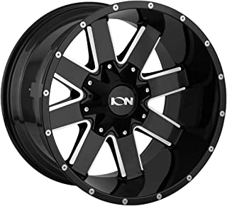 ION 141 Wheel with GLOSS BLACK/MILLED SPOKES (20 x 12. inches /8 x 165 mm, -44 mm Offset