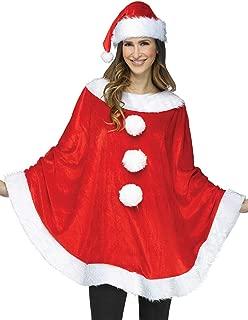 Santa Poncho Adult Costume