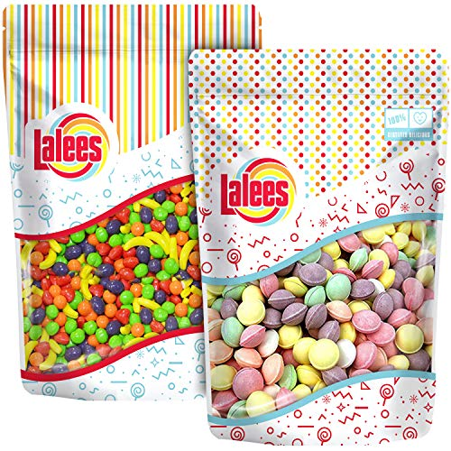 Lalees Tangy Tarts and Runts - Bulk Candy - Assorted Fruity Flavored Candies - 2 Pack of 1 Pound Each