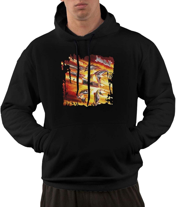 NolanO Judas Priest Firepower Men's Hoodies Sweatshirt With Pocket Black