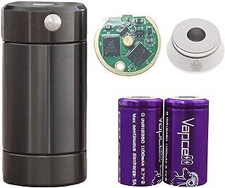 【正規輸入品】Cthulhu TUBE MOD セカンドバッチ 予備基盤+Vapcell18350バッテリー2本専用ケース入り+Cthulhuアトマイザースタンド付セット (BLACK)