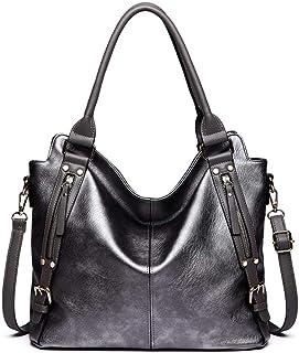 مس لولو حقيبة للنساء-اسود رمادي - حقائب يد كبيرة بحمالة