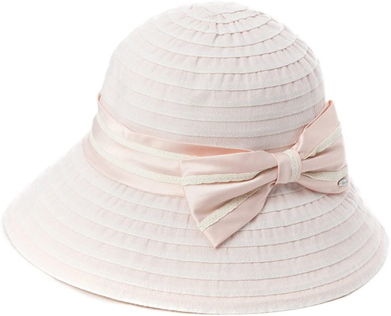 Hat Female UV Predection Sun Visor Collapsible Sun Hat Outdoor Sunscreen Fisherman Hat (color   Pink)