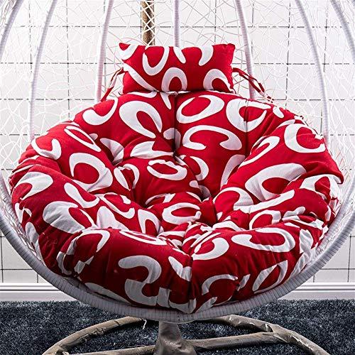 Yuany schommelstoel kussen pads, opknoping rotan swing terras tuinstoel ei kussen in of buiten, 90x120cm (kleur: C)