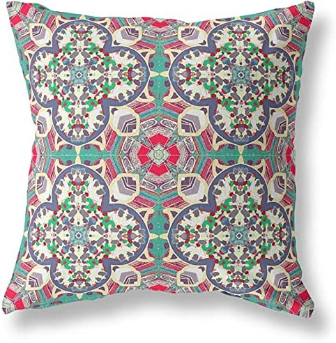 Amrita Sen Designs Clover Leaf Complete Free Shipping Floral 25% OFF Closed Gr Pillow and Blown