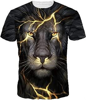 Men's Colorful 3D Animal Galaxy Print T-Shirt Short Sleeve Fashion Casual Tees