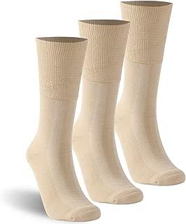 KitNSox Unisex Seamless Casual Cotton Non Binding Cushion Diabetic Crew Socks 1/3/6 Pack M/L/XL