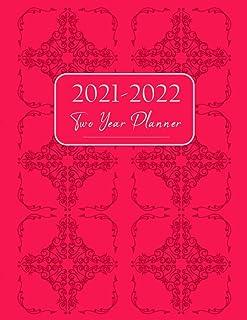 2021-2022 Two Year Planner: Daisy Flowers 2 Year Monthly Planner Calendar Schedule Organizer