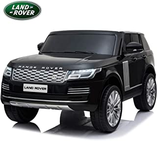 Licensed Land Rover Range Rover HSE Kids Electric Ride on Car with Remote Control, Real 2 Seaters, Bluetooth, Music, LED Lights, Openable Doors, Leather Seats, Four Wheels Spring Suspension - Black