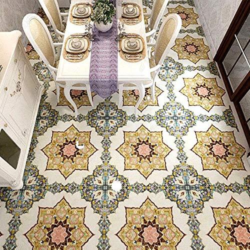 Papel tapiz mural autoadhesivo personalizado para suelo, estilo europeo, adhesivo para azulejos de mármol, sala de estar, restaurante, arte, murales de suelo a prueba de agua-430 * 300cm
