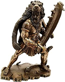 Ky & Co YK HERACLES Hercules Holding Club with NEMEAN Lion Skin Armor Sculpture Figurine