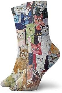 Dydan Tne, Gatos Calcetines de Vestir de Animales Calcetines Divertidos Calcetines Locos Calcetines Casuales para niñas Niños