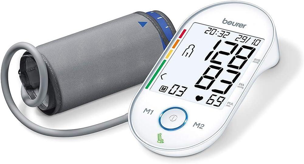Beurer bm 55 misuratore di pressione da braccio con display xl retroilluminato e indicatore del valore a ripos 658.07