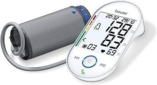 Beurer BM 55 - Tensiómetro de brazo, memoria 2 x 60 mediciones, conexión a PC