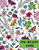 Draw and Write Journal: Creative Writing Drawing Kids Flower Journal: Pre-K to Grade 2 (Half Primary Lined with Drawing Space 8.5 x 11) Cute Flowers and Garden Journal for Kids 1720480729 Book Cover