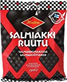 Halva Salmiakki ruutu - Bolsa de golosinas de regaliz salado finlandés de regaliz salmiak de vino de goma de caramelo 170g