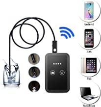 Micro USB Camera Endoscope, Wireless WiFi 5.5mm Borescope Inspction Camera Waterproof 0.3M Pixel CMOS Camara with 6 Adjustable LEDs for iOS Android PCs Laptops(15m)