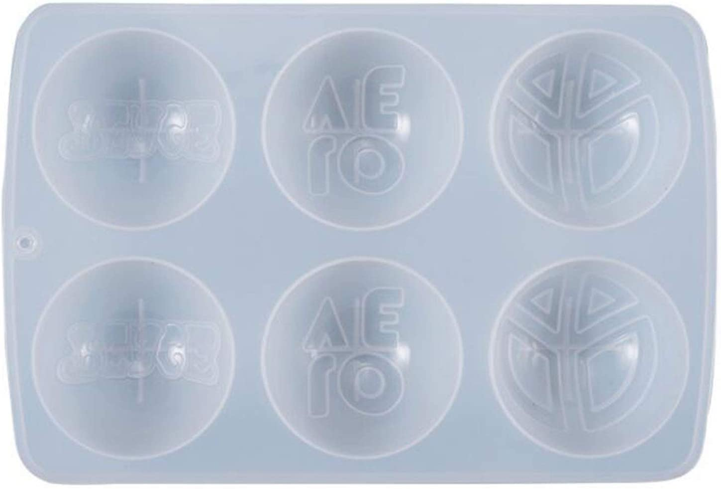 DRINK Round Letters 6 Cells Cr Decoration Sales Casting Mould Silicone Easy-to-use