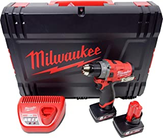 Milwaukee 0 M12FDD-602X Fuel Cordless Drill 12V/6.0Ah Red