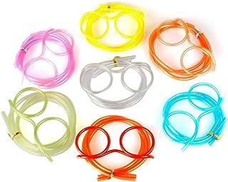 cee6fdc00d91 Walmeck DIY Cartoon Plastic Creative Fun Eyeglasses Straw Crazy Design  Silly Transparent Funny Stylish Gift for