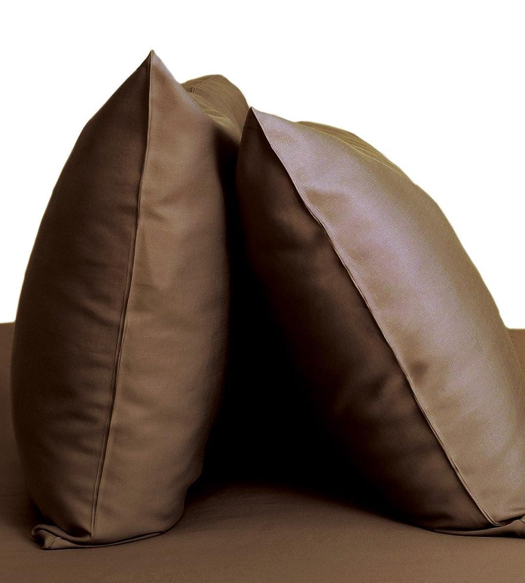 Cariloha Resort Bamboo Pillowcases 2 Piece Pillowcase Set - 100% Viscose from Bamboo Bedding (Standard, Almond Truffle)