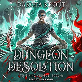 Dungeon Desolation     Divine Dungeon Series, Book 4              Written by:                                                                                                                                 Dakota Krout                               Narrated by:                                                                                                                                 Vikas Adam                      Length: 11 hrs and 55 mins     66 ratings     Overall 4.8