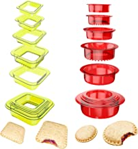 YUMKT Sandwich Cutter Sealer Cookie Bread Pancake Maker Uncrustable Mold Press for Kids Luchable Box Bentgo Accessories Sa...