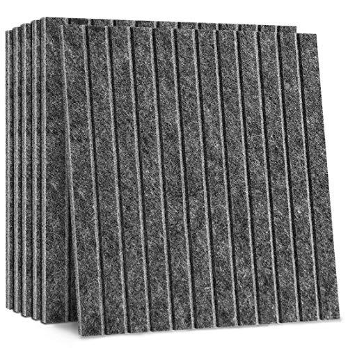 VANCORE 吸音材 防音シート 壁 床 6枚 コルクボード 吸音シート 硬質吸音 オシャレ 掲示板 吸音ボード 防音材 吸音ボード マイク スピーカー テレビ消音 防音対策 遮音 フェルトボード 30cm*30cm*9mm U 深いグレー