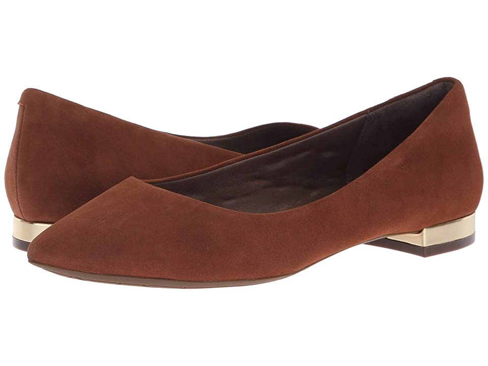 Rockport Total Motion Adelyn Ballet (Almond Suede) Women