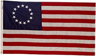 Perma-Nyl Valley Forge, American Flag, Nylon, 3' x 5', 100% Made in USA, Betsy Ross 13-Star Colonial US Flag, Sewn Stripes, Embroirdered Stars