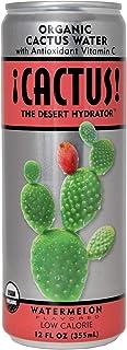 ¡CACTUS! USDA Organic Cactus Water | Watermelon |100% DV Antioxidant Vitamin C | Electrolytes & Amino Acids| Light & Refre...